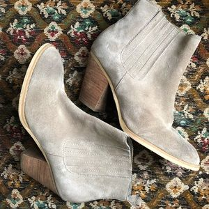 Gray Suede Booties
